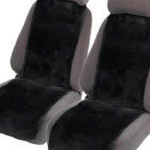 Premium 30mm Sheepskin Car Seat Inserts Black