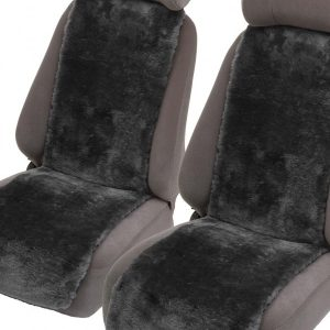 Premium 30mm Sheepskin Car Seat Inserts Graphite
