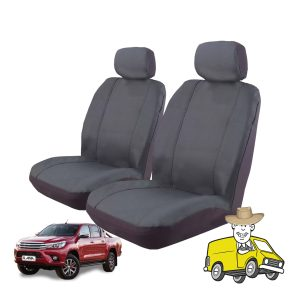 Outback Canvas Seat Cover to Suit Toyota Hilux Double Cab SR SR5 2015
