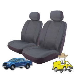 Outback Canvas Seat Cover to Suit Toyota Hilux Double Cab Workmate SR SR5 2009