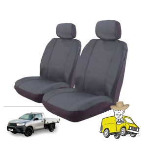 Outback Canvas Seat Cover to Suit Toyota Hilux Single Cab Workmate SR 2015