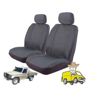 Outback Canvas Seat Cover to Suit Toyota Landcruiser Single Cab HJ80