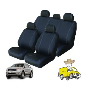 Velocity Canvas Seat Cover to Suit Ford Ranger Double Cab PX MKII