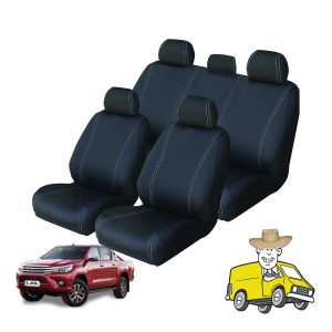 Velocity Neoprene Seat Cover to Suit Toyota Hilux Double Cab SR SR5 2015