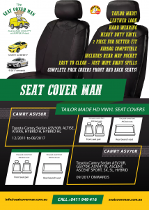Black Bull Tailor-made Vinyl Car Seat Covers by The Seat Cover Man