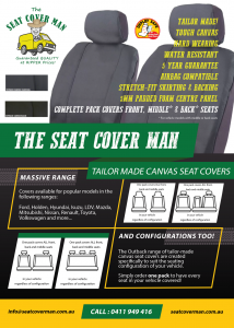 Outback Tailor-made Canvas Car Seat Covers by The Seat Cover Man