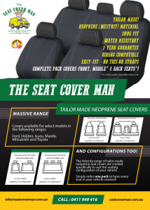 Velocity Tailor-made Neoprene Car Seat Covers by The Seat Cover Man